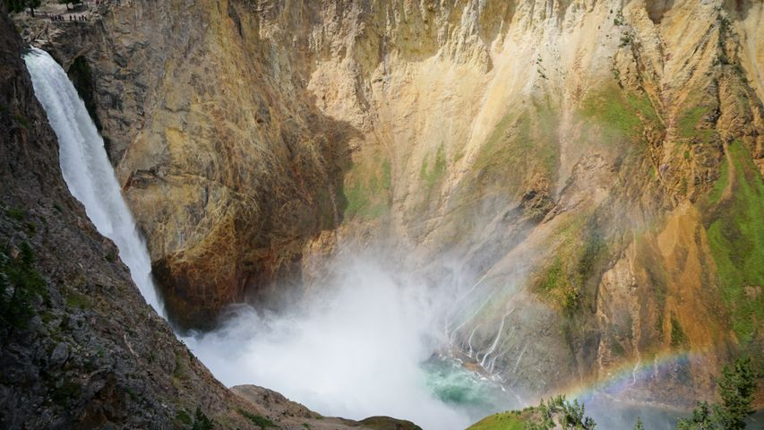 nature outdoor waterfall mountain rock water rocky landscape