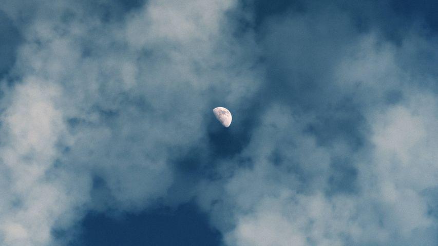sky outdoor smoke moon clouds cloudy plane cloud
