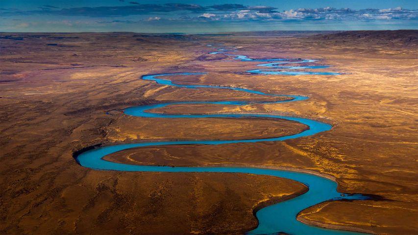 Cuenca del río Santa Cruz, Patagonia, Argentina