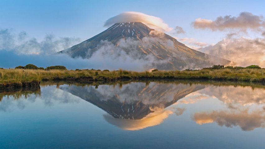 「タラナキ山」ニュージーランド北島, エグモント国立公園