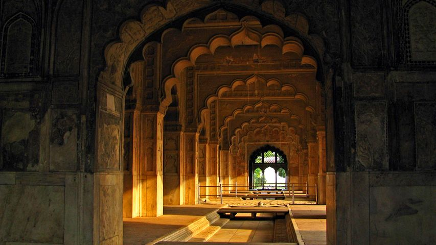 The Rang Mahal palace inside the Red Fort, New Delhi
