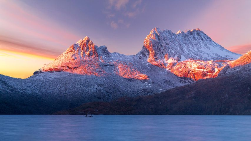 Cradle Mountain, Tasmania, on a very cold morning