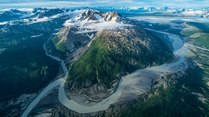 The glaciers and mountains of Kluane National Park and Reserve, Yukon, Canada
