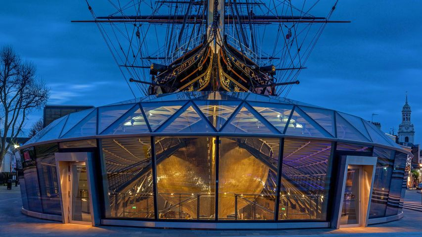 The Cutty Sark in Greenwich, London, England for her 150th anniversary