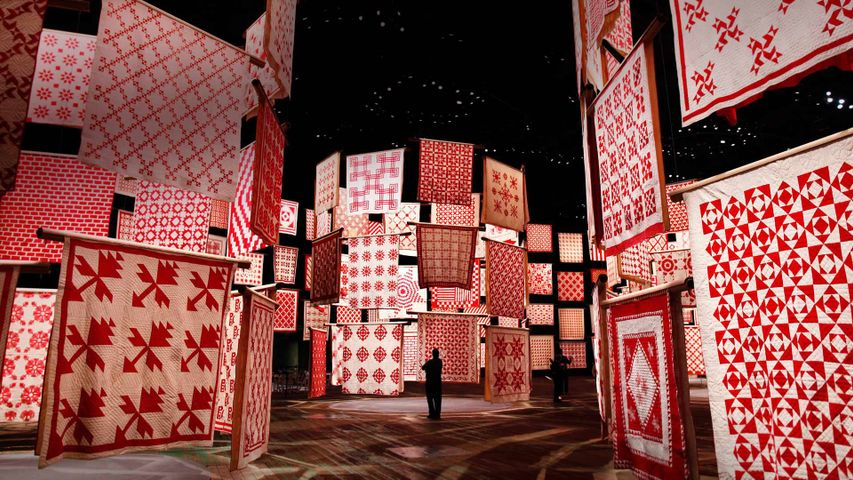 'Infinite Variety: Three Centuries of Red and White Quilts' at the American Folk Art Museum in New York City in 2011, for National Quilting Day