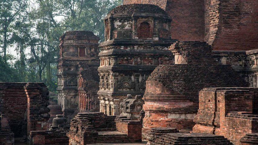 The ruins of Nalanda Mahavihara in Bihar, India