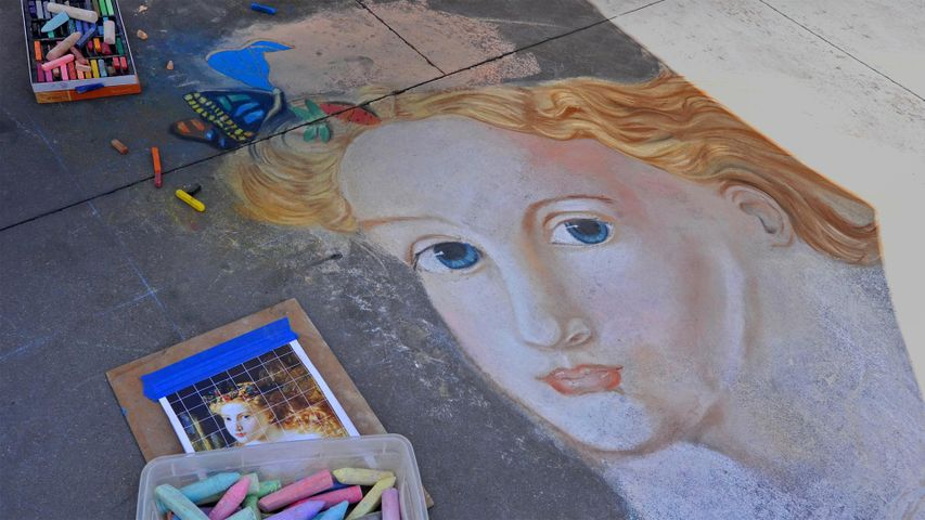 Street art from the Pasadena Chalk Festival 2013, California