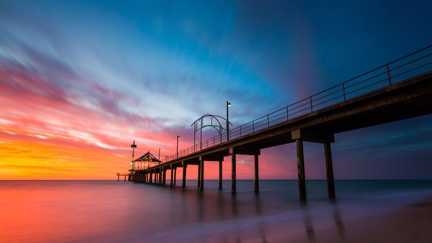 Brighton Jetty in Brighton, Adelaide, Australia