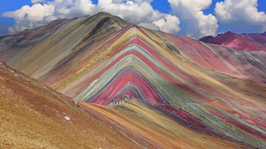 Vinicunca Mountain in the Cusco Region of Peru