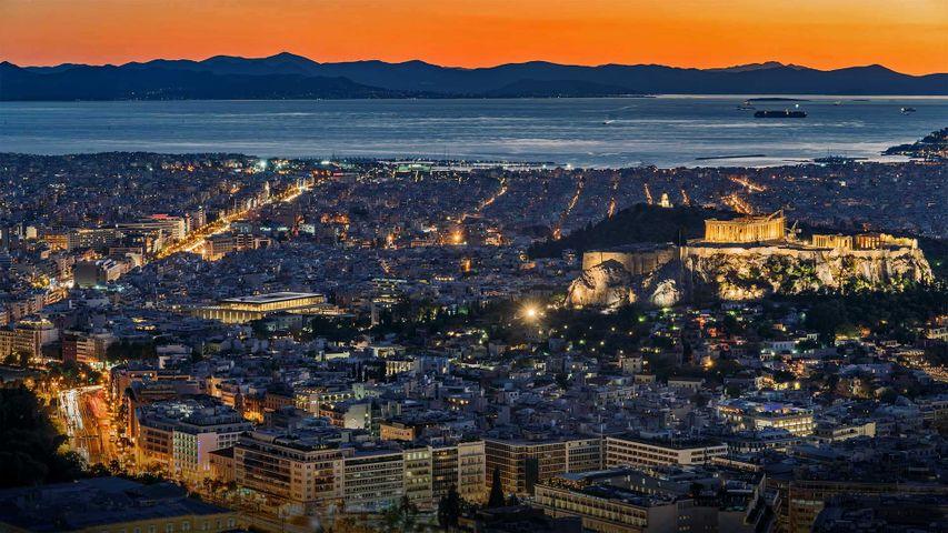 「アテネ市街」ギリシャ