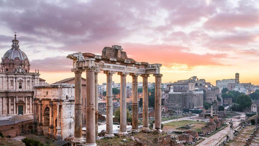 「サトゥルヌス神殿」イタリア, ローマ