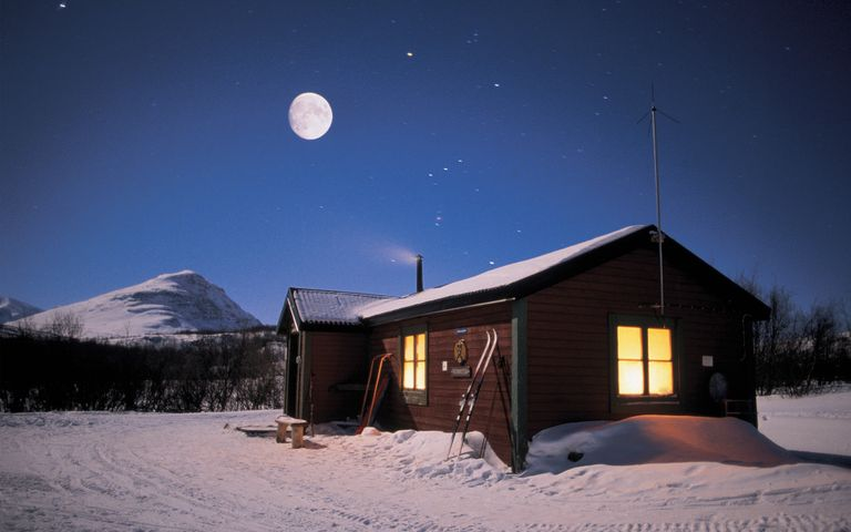 snow sky outdoor nature moon house