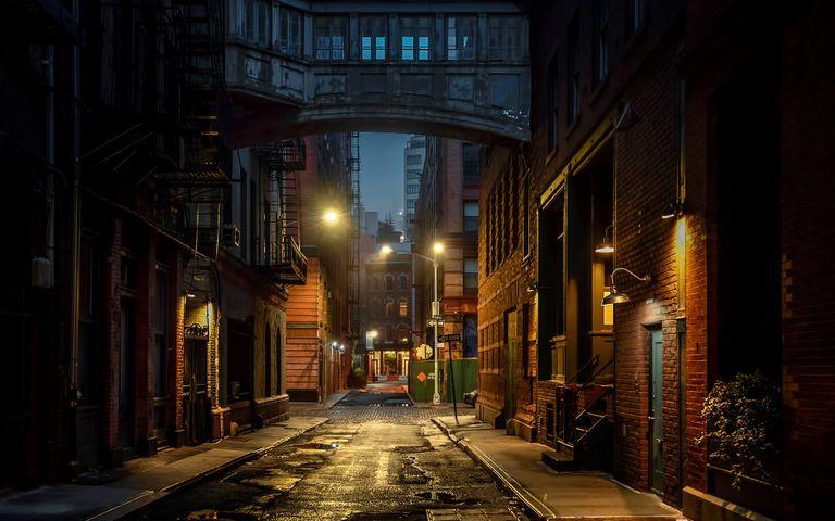 building outdoor light way street light scene street sky