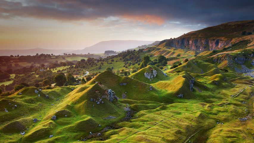 The Llangattock Escarpment in the Brecon Beacons National Park, Powys, Wales