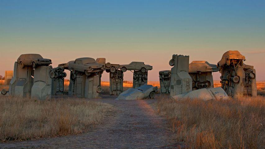 Carhenge, created by Jim Reinders near Alliance, Nebraska