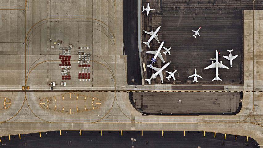 凤凰城天港国际机场鸟瞰图,亚利桑那