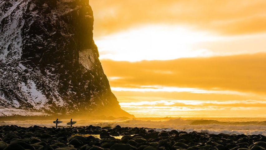 Arctic surfing trip in the Lofoten Islands, Norway for the Lofoten Masters