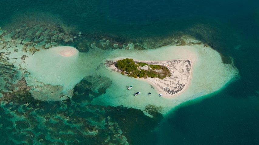 Guadeloupe, Grand Cul-de-sac Marin, Ilets de Carénage, Ilet Blanc