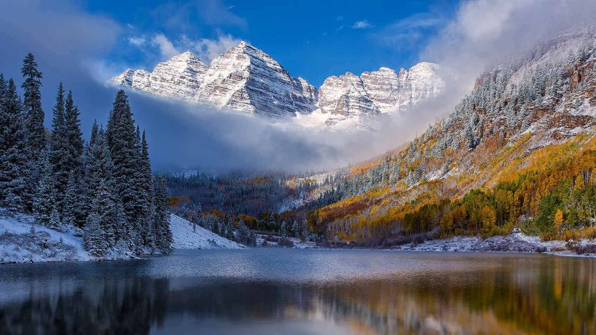 The Maroon Bells, near Aspen, Colorado