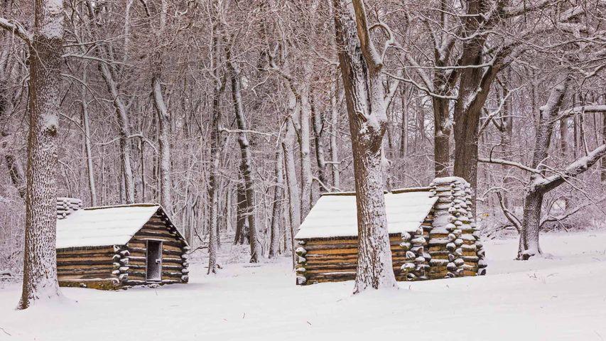 福吉谷国家历史公园中的小屋,宾夕法尼亚