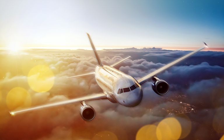 plane sky outdoor aircraft airplane vehicle aviation air travel
