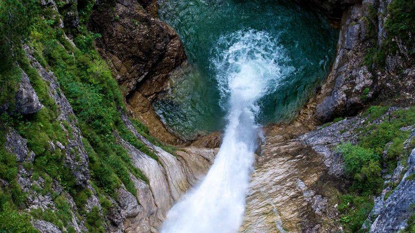 Waterfall at Pöllat Gorge near Neuschwanstein Castle, Bavaria, Germany