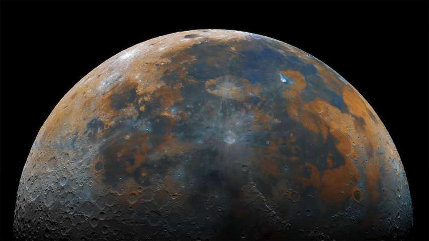 Kompositaufnahme des Mondes
