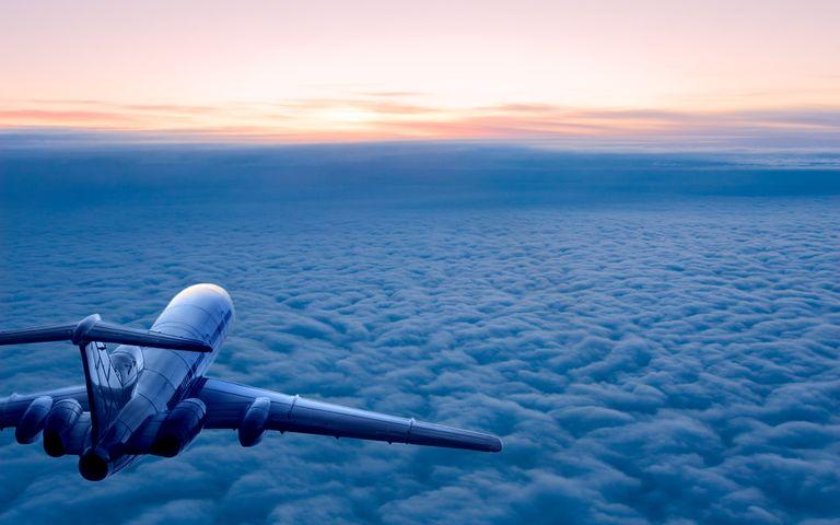 water outdoor sky cloud snow sunrise airplane blue