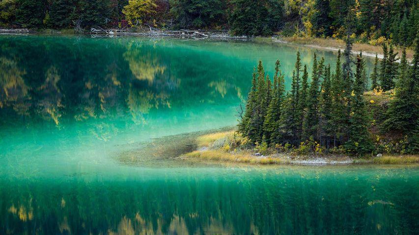 Emerald Lake near Carcross, Yukon Territories