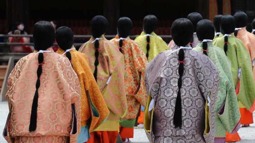 「葵祭の日の下鴨神社」京都府