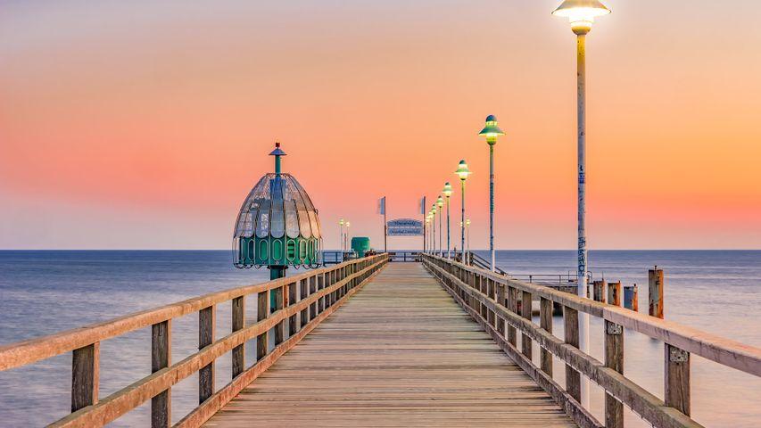 Zinnowitz pier on Usedom island in the Baltic Sea, Germany