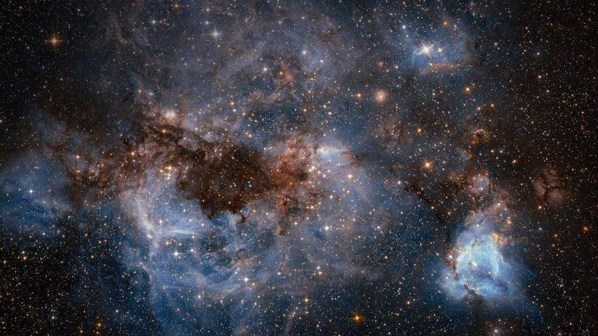 The Large Magellanic Cloud, photographed by the Hubble Space Telescope