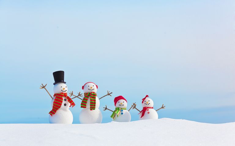 sky outdoor snow cartoon snowman hill slope day