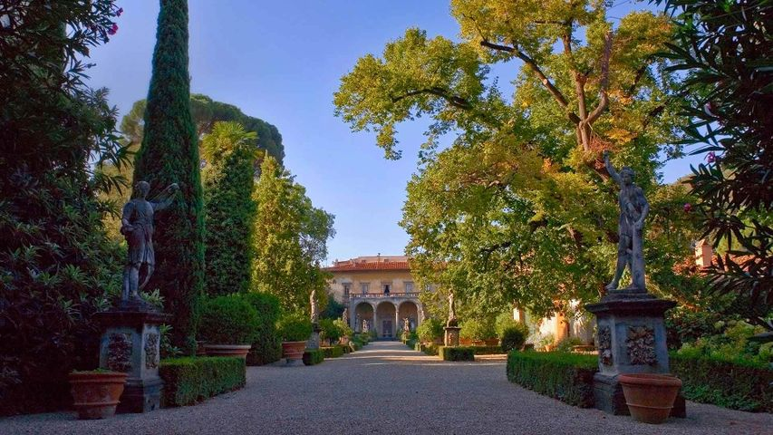 The Garden of the Palazzo Corsini al Prato in Florence, Italy, for the New Generation Festival