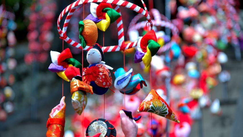 「素盞鳴神社雛段飾りのつるし飾り」静岡県