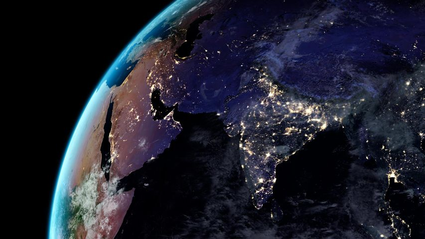 Artificial light from Earth
