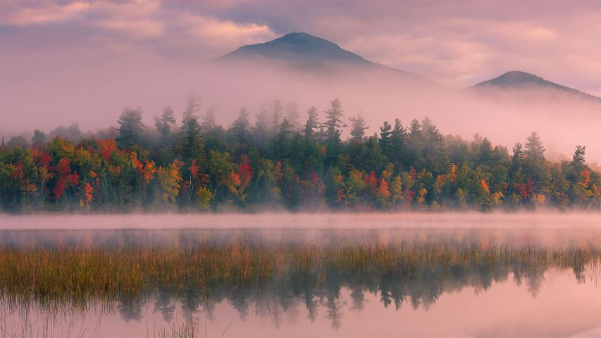 Connery Pond und Whiteface Mountain, Adirondack Mountains, US-Bundesstaat New York