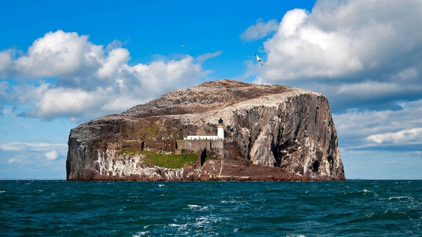 Bass Rock in Scotland's Firth of Forth