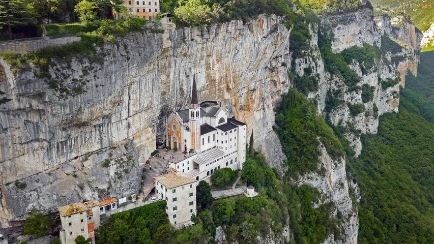 The Sanctuary of Madonna della Corona in Italy