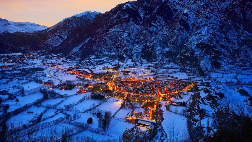The village of Benasque, Huesca, Spain