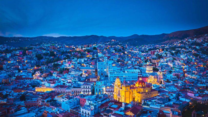Panorámica de la ciudad de Guanajuato, México