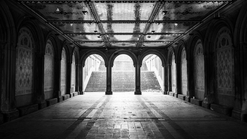 black and white building monochrome arch court stone walkway colonnade