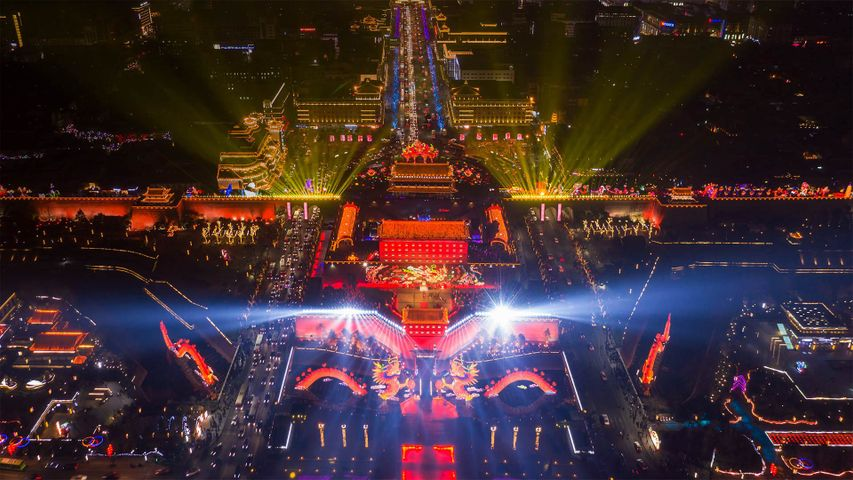 The Chinese New Year celebration in Xi'an, China