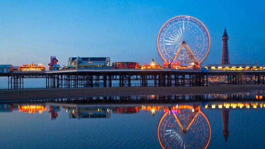Blackpool Pier and Tower illuminations, England