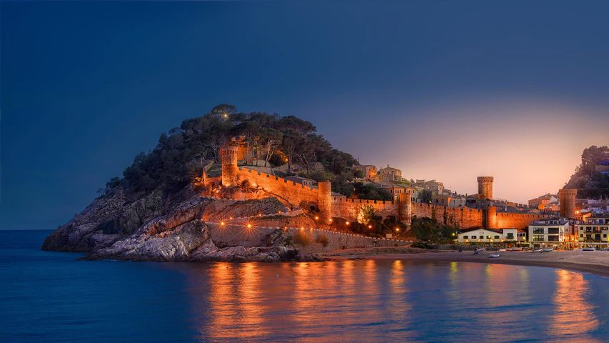 The medieval walled town in Tossa de Mar, Catalonia, Spain