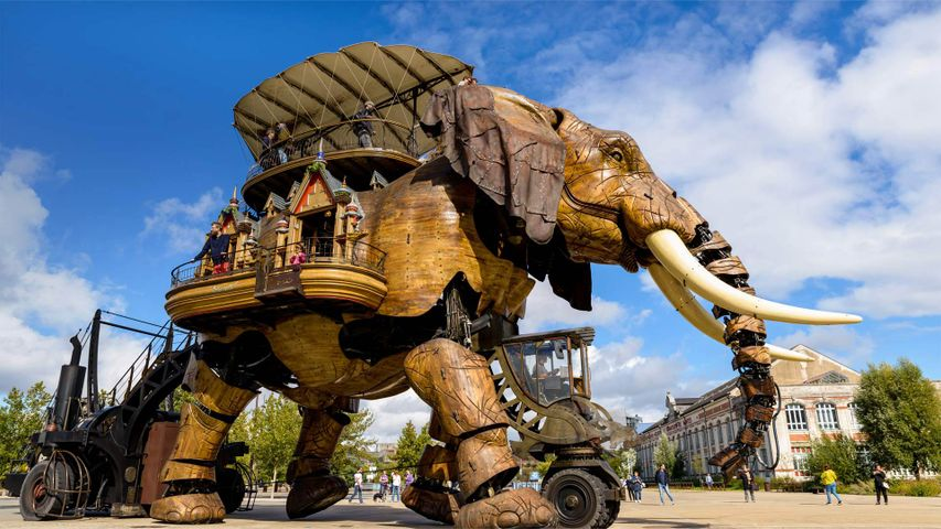 The Grand Éléphant at Machines of the Isle of Nantes, France
