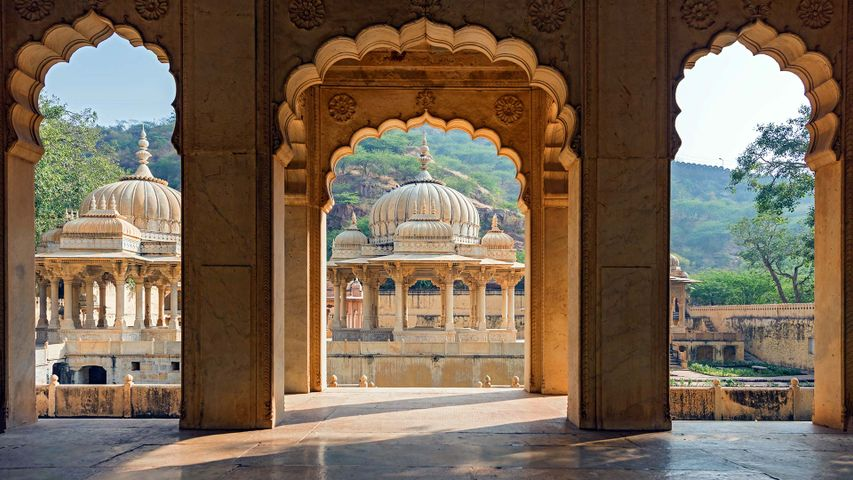 View from the Gaitore Cenotaphs near Jaipur, Rajasthan