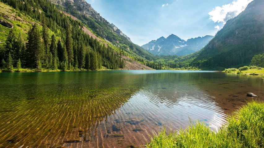 mountain water outdoor nature tree lake landscape sky