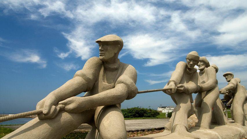 Fishermen Monument at L'Etang du Nord, Magdalen Islands, Que.