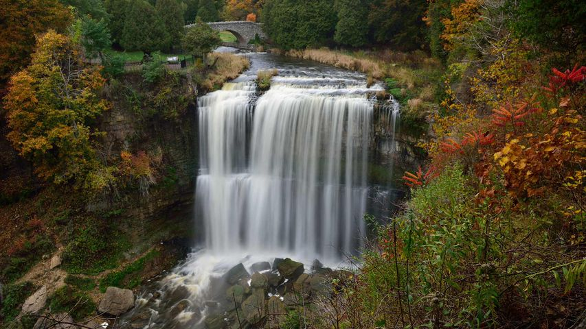 Webster's Falls in autumn, Hamilton, Ont.